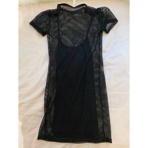 Layered mesh dress
